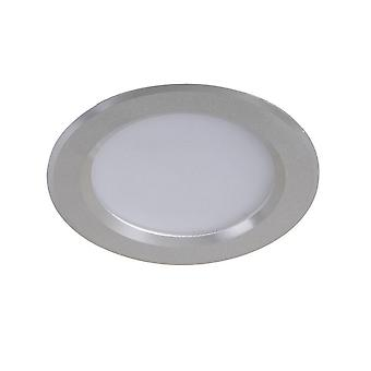 Moderne technische LED verzonken plafond zilver, warm en licht wit 2700K 730lm