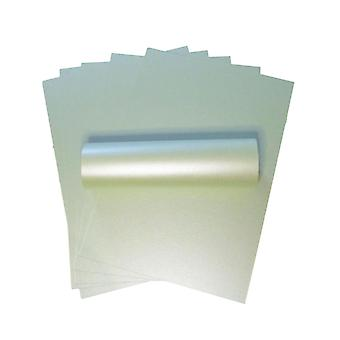 10 Sheets Honeydew Green A4 Pearlescent Double Sided Card 300gsm