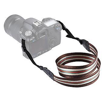 PULUZ Stripe Style Series Band Neck Strap Camera Strap for SLR / DSLR Cameras (Café)