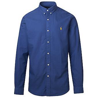 Ralph Lauren 710804257009 Men's Blue Cotton Shirt