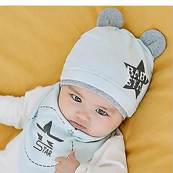 Autumn, Winter's Hat, Bib Sets, Boys And Girls, Cotton Solid Color,
