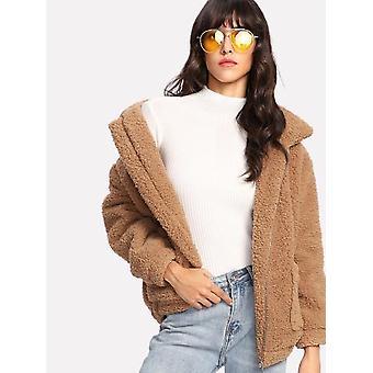 Dual Pocket Faux Fur Teddy Jacket