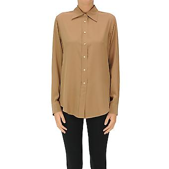 Aspesi Ezgl050110 Women's Brown Cotton Shirt