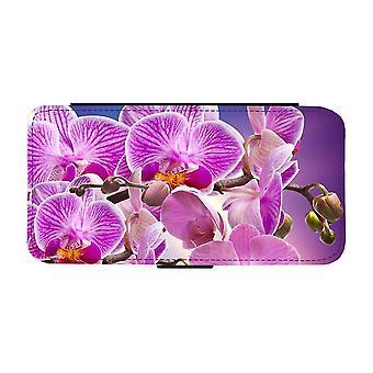 Purple Orkideer Flowers iPhone 12 / iPhone 12 Pro Custodia portafoglio