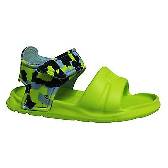 Puma Wild Injex Camo Lime Toddlers Open Toe Sandals 365082 01