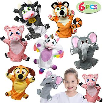 Joyin animal friends deluxe hand puppets 6 pack for imaginative play, stocking, birthday party favor
