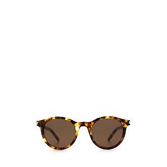 Saint Laurent SL 342 havana unisex okulary przeciwsłoneczne