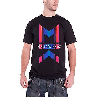 Mallory Knox Mens T Shirt Black Asymmetric Design band logo Official