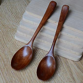 Wooden Spoon Bamboo Kitchen Cooking Utensil Tool Soup Teaspoon Catering