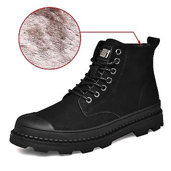Black Warm Winter Men Boots