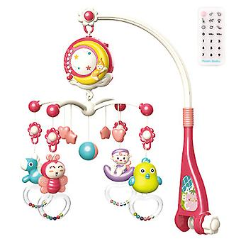 Baby Bed Bell Rattle Toy, With Projection And Music, Remote Control, Baby Soothing Toy