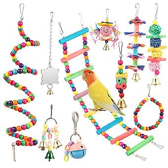 Combination Articles Parrot Bite Toy Bird Toy (as Picture)