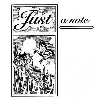 Kreative Ausdrücke nur eine Notiz vorgeschnitten Stempel