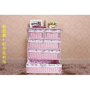 Thicken Large Rattan Bedside Baby Cabinet