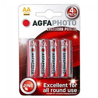 AGFA Everyday Power Zinc Batteries AA 4pk