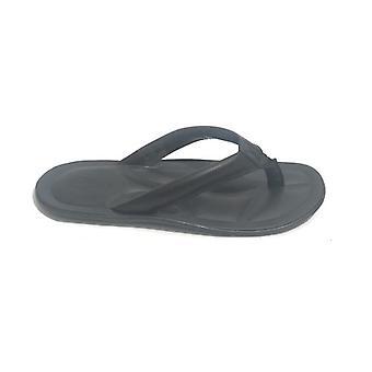 Men's Shoes Elite Slipper Flip Flops In Black Calfskin Us18el09