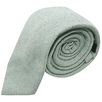Menthe verte Herringbone cravate