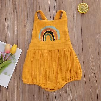 Baby Regenbogen Strampler Overalls Sommer ärmellose Kleidung
