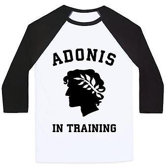 Adonis in training unisex classic baseball tee