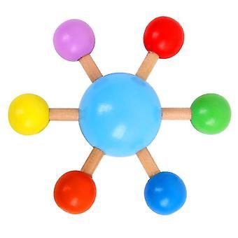Sormenpää värikäs pyörivä toppi, puinen hauska vapaa-ajan paineenalennus lelu