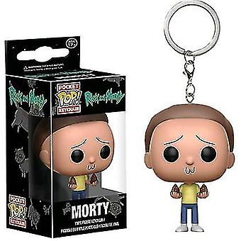 Funko pop chaveiro morty rick e morty