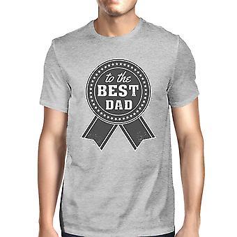 Męski szary vintage graficzny t-shirt