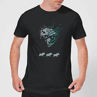 Magic Of The Gatheirng Throne of Eldraine Big Bad Wolf Men's T-Shirt Tee - Black