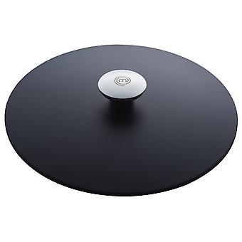 lid 28 cm black aluminium