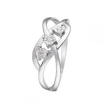 Anel 'Alana' Ouro Branco e Diamantes
