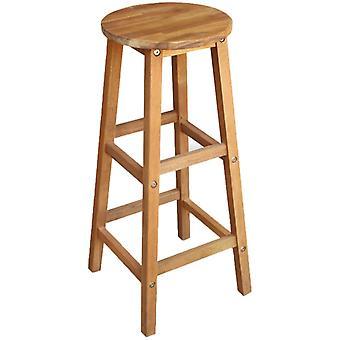 vidaXL bar stool 2 pcs. solid wood acacia