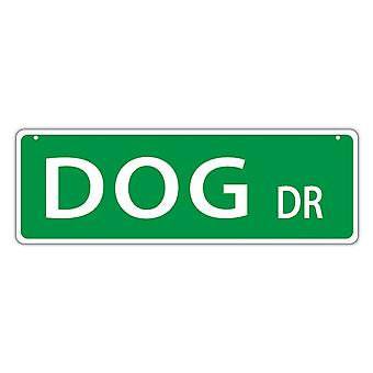 "Street Sign, Plastic, Dog Drive, 17"" X 6"""