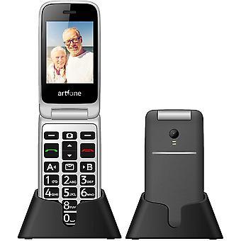 FengChun artfone Seniorenhandy, 3G Klapphandy 2,4 Zoll Flip Mobiltelefon Senioren-Handy