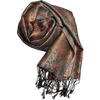 FengChun Pashmina 100% Seidenschal aus Indien fr Damen Herren, Paisley Muster, 160 x 35 cm - Schal