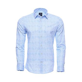 Baby blue patterned shirt for men | wessi