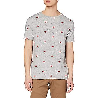 Scotch & Soda Crew Neck Tee with Allover Print T-Shirt, Multicolored (Combo C 0219), Large Men