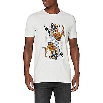 Springfield 5ec Naipe Ethnic Gris-c/41 T-Shirt, Grey (Dark_Grey 41), Medium Men