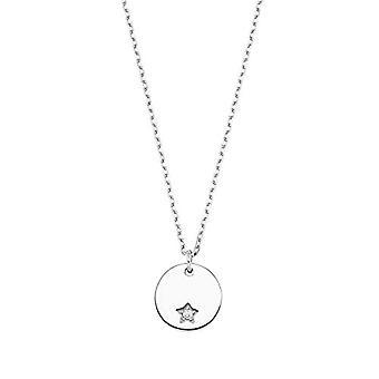 Amor Damen Halskette mit sternförmigen Anhänger, glänzendes 925 Silber, mit weißen Zirkonen(2)