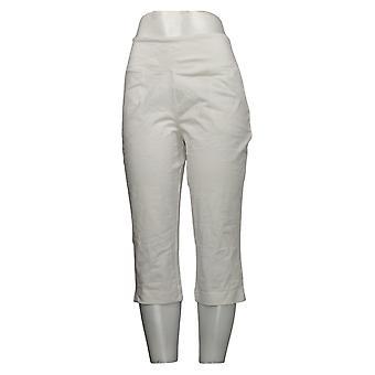 Kobiety z control spodnie damskie Petite Capri Biały A379857