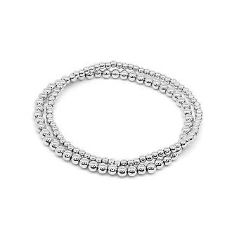 Boho betty samra silver stretchy bracelet duo