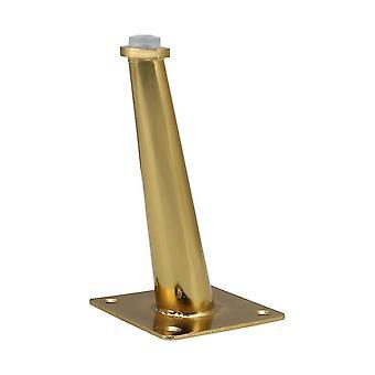 गोल्ड स्टेनलेस स्टील तिरछा शंकु फर्नीचर फीट के लिए 15 सेमी ऊंचाई WS4496