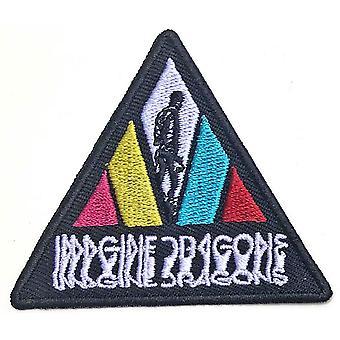 Forestill deg drager - Uskarpt trekant logo standard patch