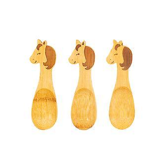 Sass & Belle Bambus Unicorn Spoons - Sæt med 3