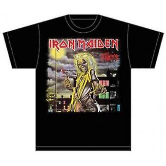Iron Maiden Killers Cover Heren T Shirt: Medium