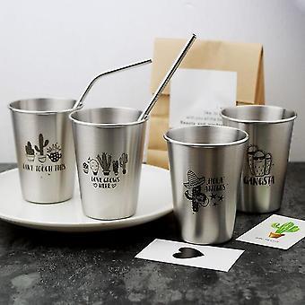 500Ml دون غطاء نمط 304 الفولاذ المقاوم للصدأ رذاذ الطلاء كأس البيرة كأس الماء البارد المشروبات استخدام كأس الغرغرة fa0810