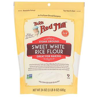 Bobs Red Mill Mjöl Ris Swt Vit, Fodral av 4 X 24 Oz