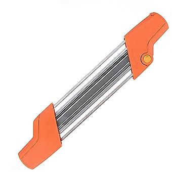 2 In 1 Easy File Chainsaw Chain Sharpener 3/8 P 4.0mm Saw Teeth Set