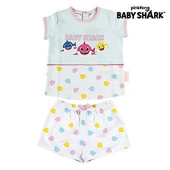 Lasten pyjama Vauvan hai valkoinen