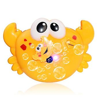 Máquina de soprador de bolha de caranguejo criativo máquina de brinquedo elétrico máquina de caranguejo automático fabricante de bolhas crianças banho ao ar livre