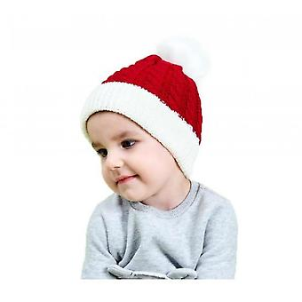 Kids Baby Toddler Cable Knit Childrens Pom Winter Hat Beanie