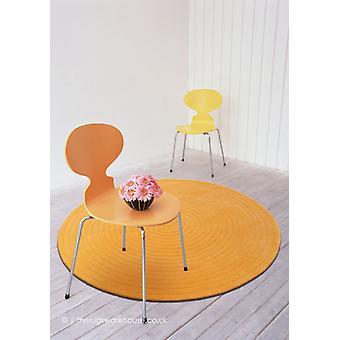 Harrare Orange Circle Rug